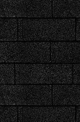Rechteck-Dachschindeln in schwarz