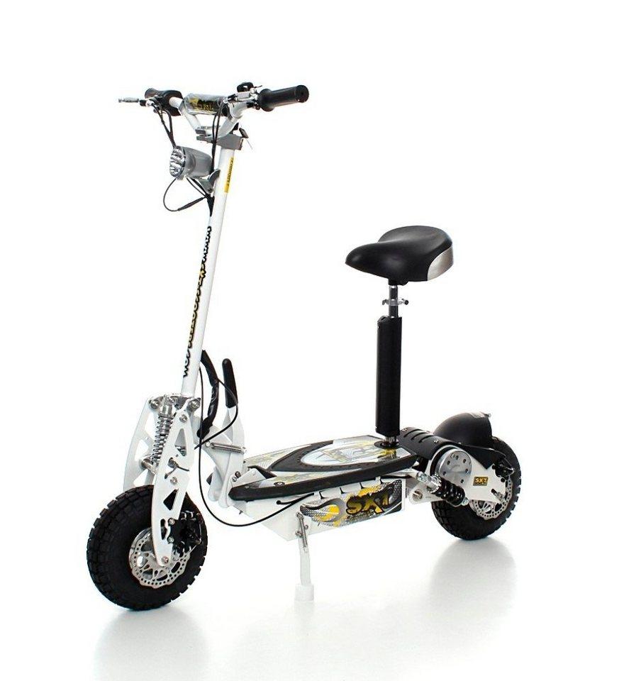 E-Scooter »SXT1000 Turbo«, 1000 Watt, 32 km/h in weiß