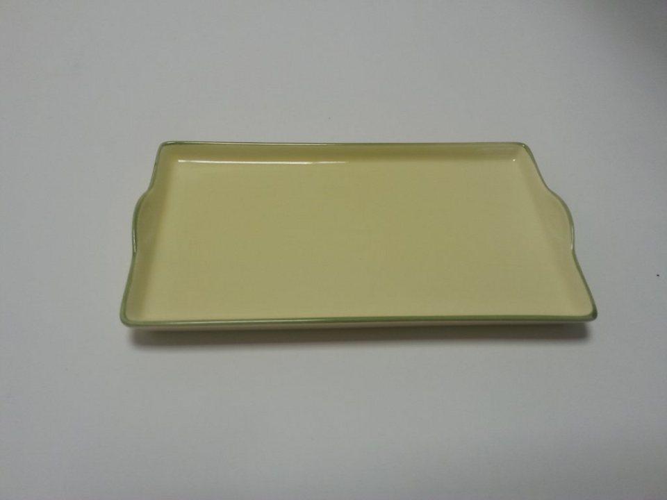 Zeller Keramik Tablett »Biene« in Grün