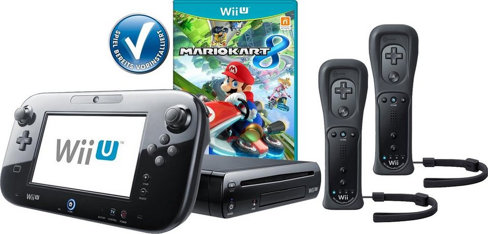 wii u premium pack mario kart 8 vorinstalliert 2 controller mit 3 jahren garantie online. Black Bedroom Furniture Sets. Home Design Ideas