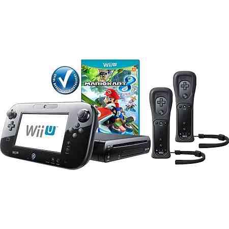 Wii U Premium Pack + Mario Kart 8 vorinstalliert + 2 Controller mit 3 Jahren Garantie*