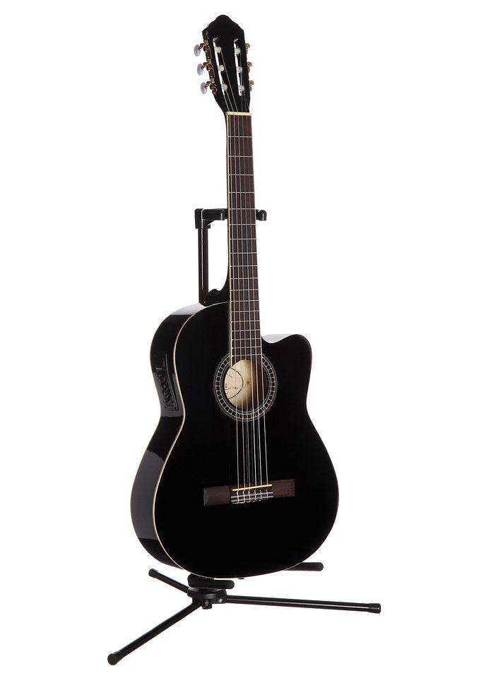 Konzertgitarre, »Jose Ribera® Konzertgitarre 4/4 mit Equalizer«, MSA in schwarz