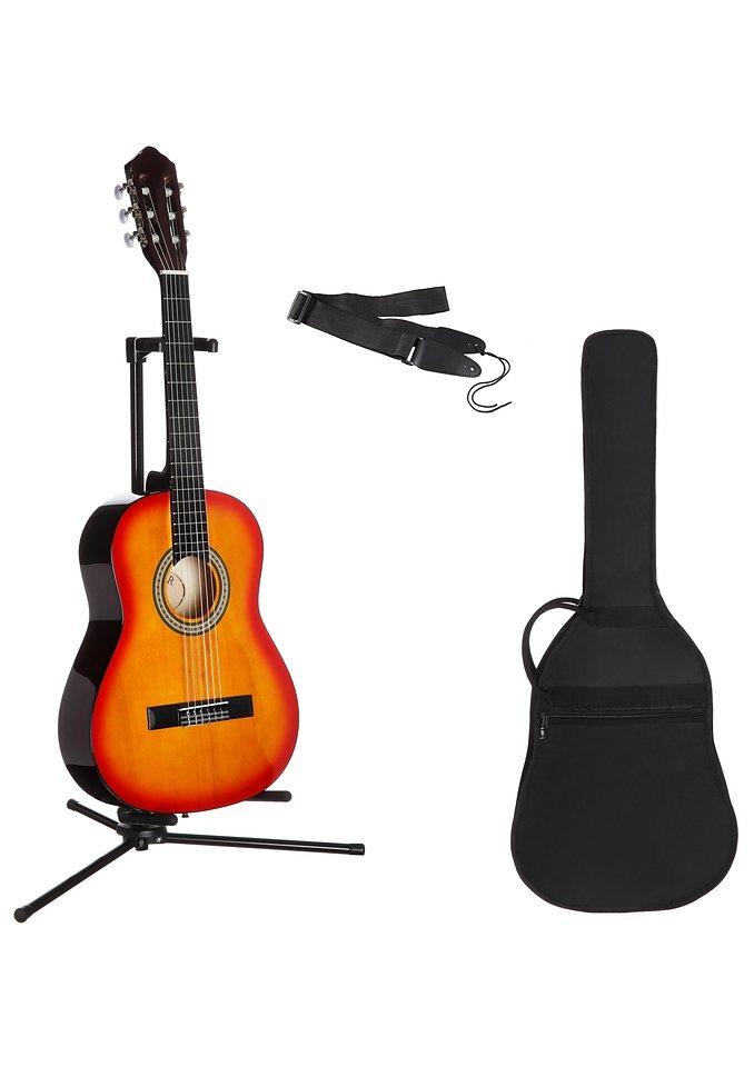 Kindergitarre für Rechts- und Linkshänder, »Konzertgitarren-Set 1/2«, MSA in sunburst
