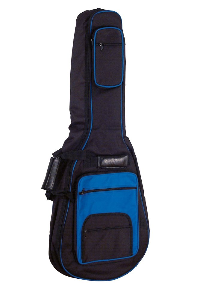 Gepolsterte Tasche in verschiedenen Farben für 4/4 Konzertgitarren, »Gig Bag«, MSA in blau
