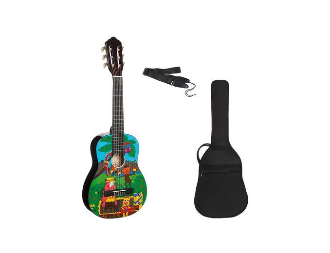 Set: Kindergitarre + Zubehör, »Konzertgitarren Set 1/4 mit Zoo Motiv«, MSA