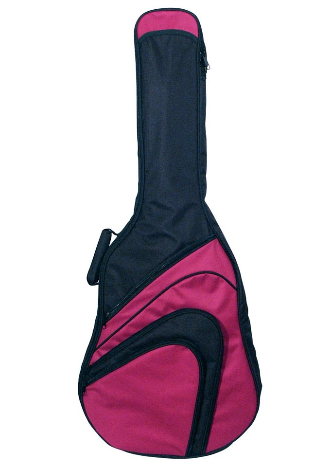 Gepolsterte Tasche in verschiedenen Farben für Westerngitarren, »Gig Bag«, MSA in rot