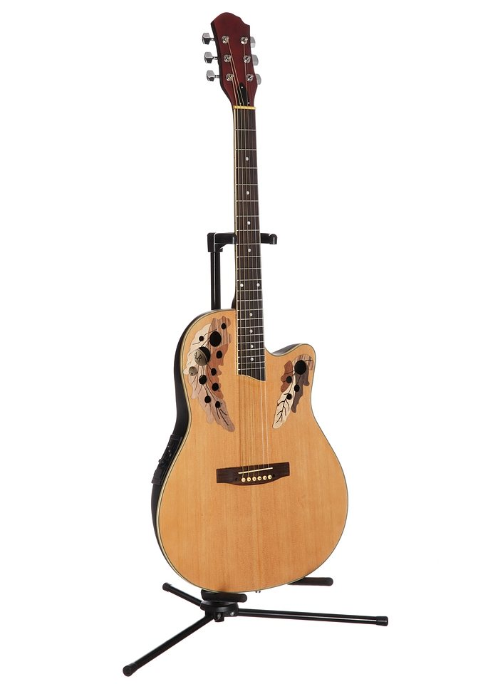 Akustikgitarre, »Roundbackgitarre 4/4 mit Equalizer«, MSA in natur