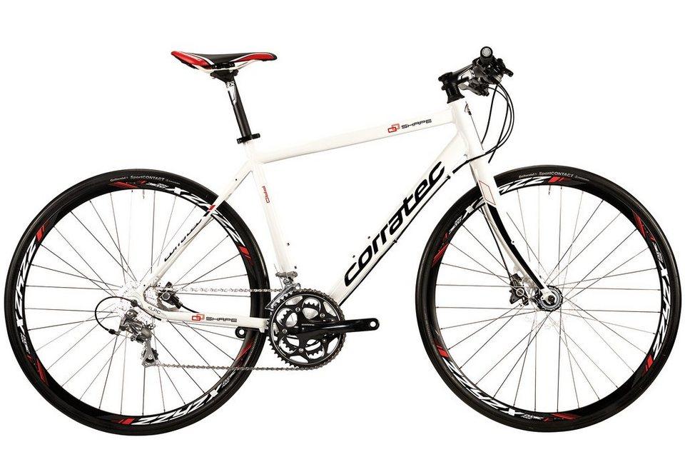Trekkingrad, 28 Zoll, 20 Gang SHIMANO TIAGRA, »Shape Pro Disc«, Corratec in weiß-schwarz-rot
