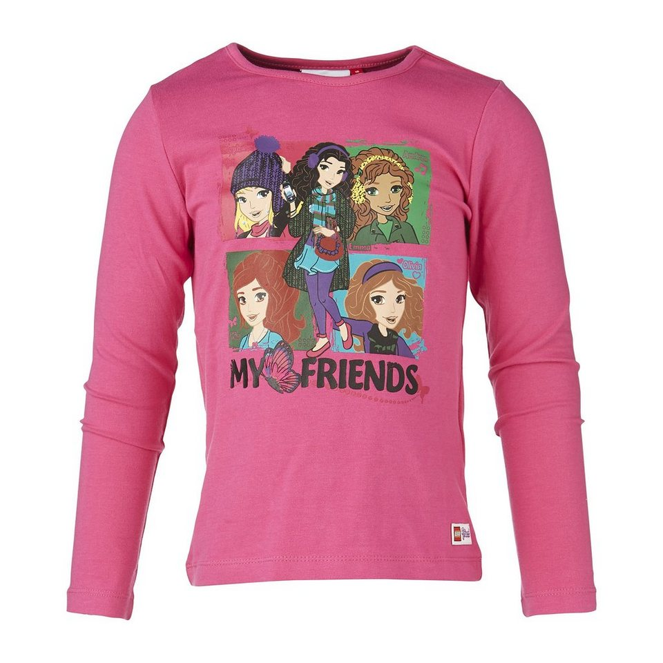 "LEGO Wear Langarm T-Shirt LEGO® Friends ""My Friends"" in himbeerrot"