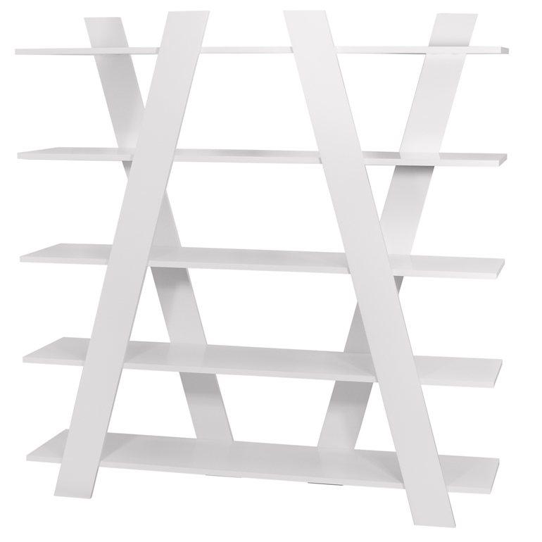 TemaHome Regal Raumteiler mit 5 Fächern »Wind« in matt weiß