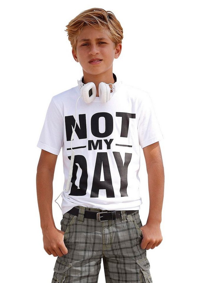 "Arizona T-Shirt ""NOT MY DAY"" in weiß"