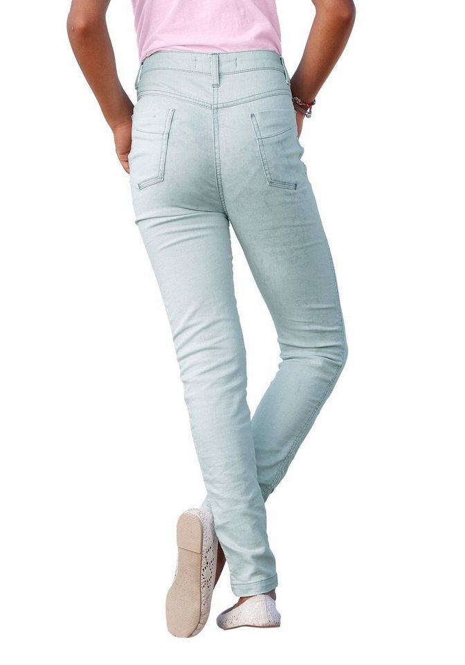 Arizona Jeans Skinny High Waist, für Mädchen in light blue