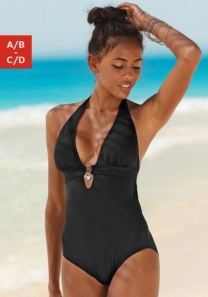 Bademode - s.Oliver Beachwear Badeanzug, mit Accessoires › schwarz  - Onlineshop OTTO