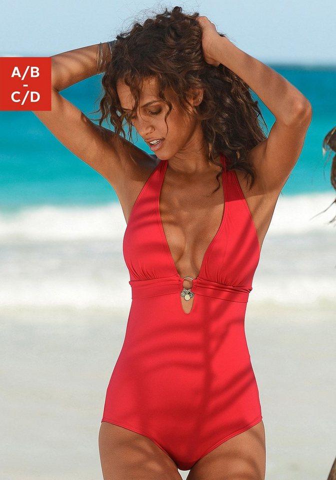 Bademode - s.Oliver Beachwear Badeanzug, mit Accessoires › rot  - Onlineshop OTTO
