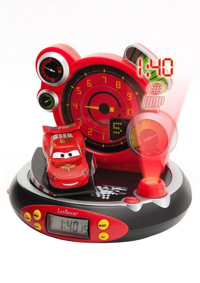 Lexibook, Radiowecker mit Projektion, »Disney Cars« in rot