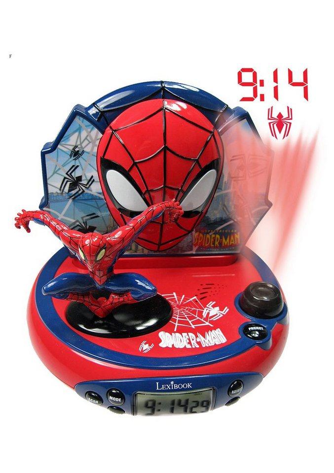 Lexibook, Radiowecker mit Projektion, »Spider-Man« in rot