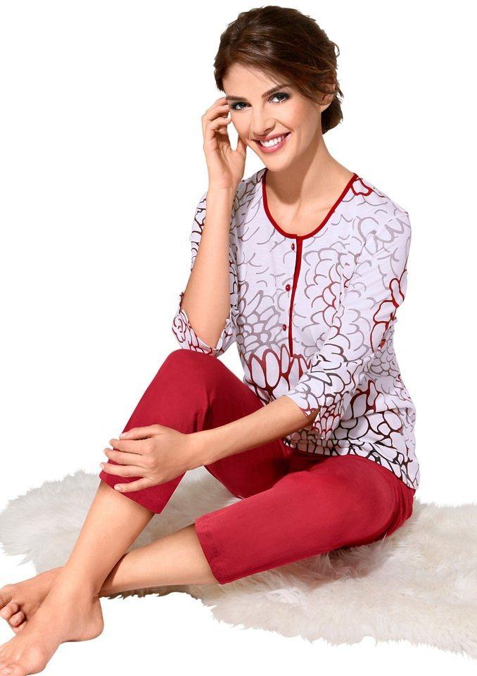 Schlafanzug, Ascafa in rot-bedruckt