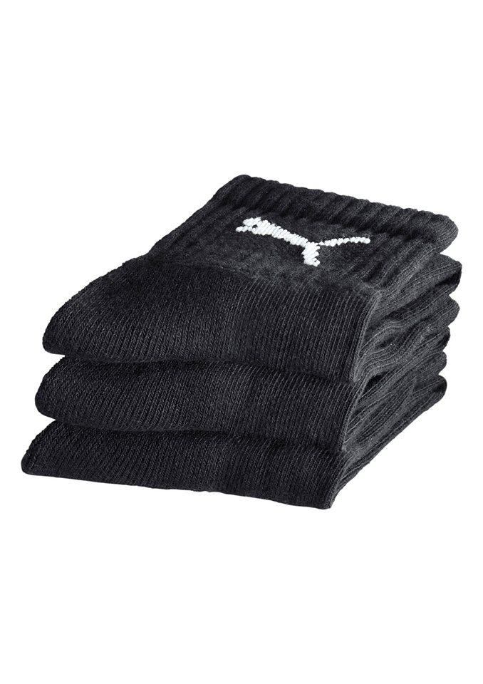 Socken, Puma (3 Paar) in schwarz