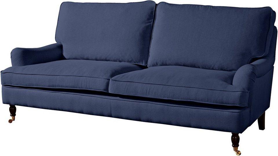 Max Winzer® 3-Sitzer Sofa »Poesie« im Retrolook, Breite 210 cm in dunkelblau