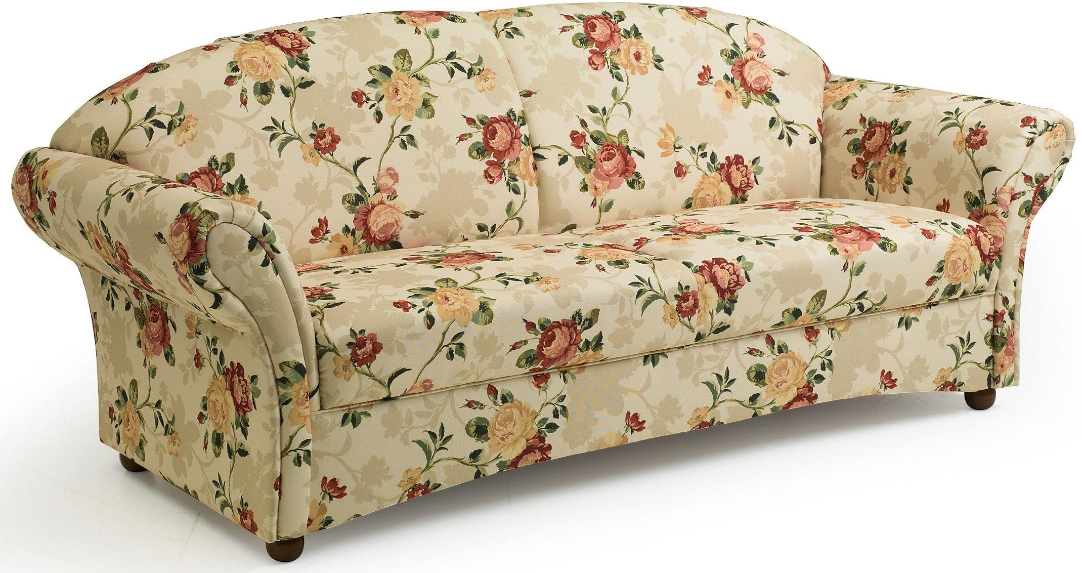 Max Winzer® 2,5-Sitzer Sofa »Carolina«, mit Holz-Kugelfüßen, Breite 201 cm