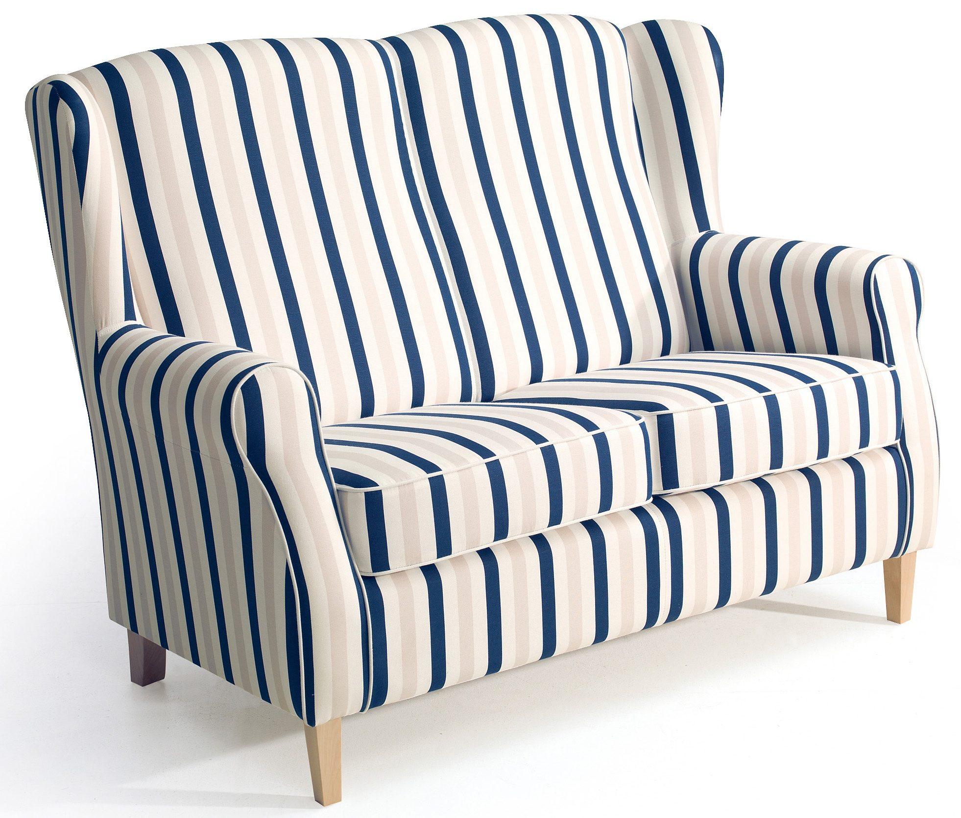 Max Winzer® Hochlehner 2-Sitzer Sofa »Luke« im Retrolook, Breite 138 cm