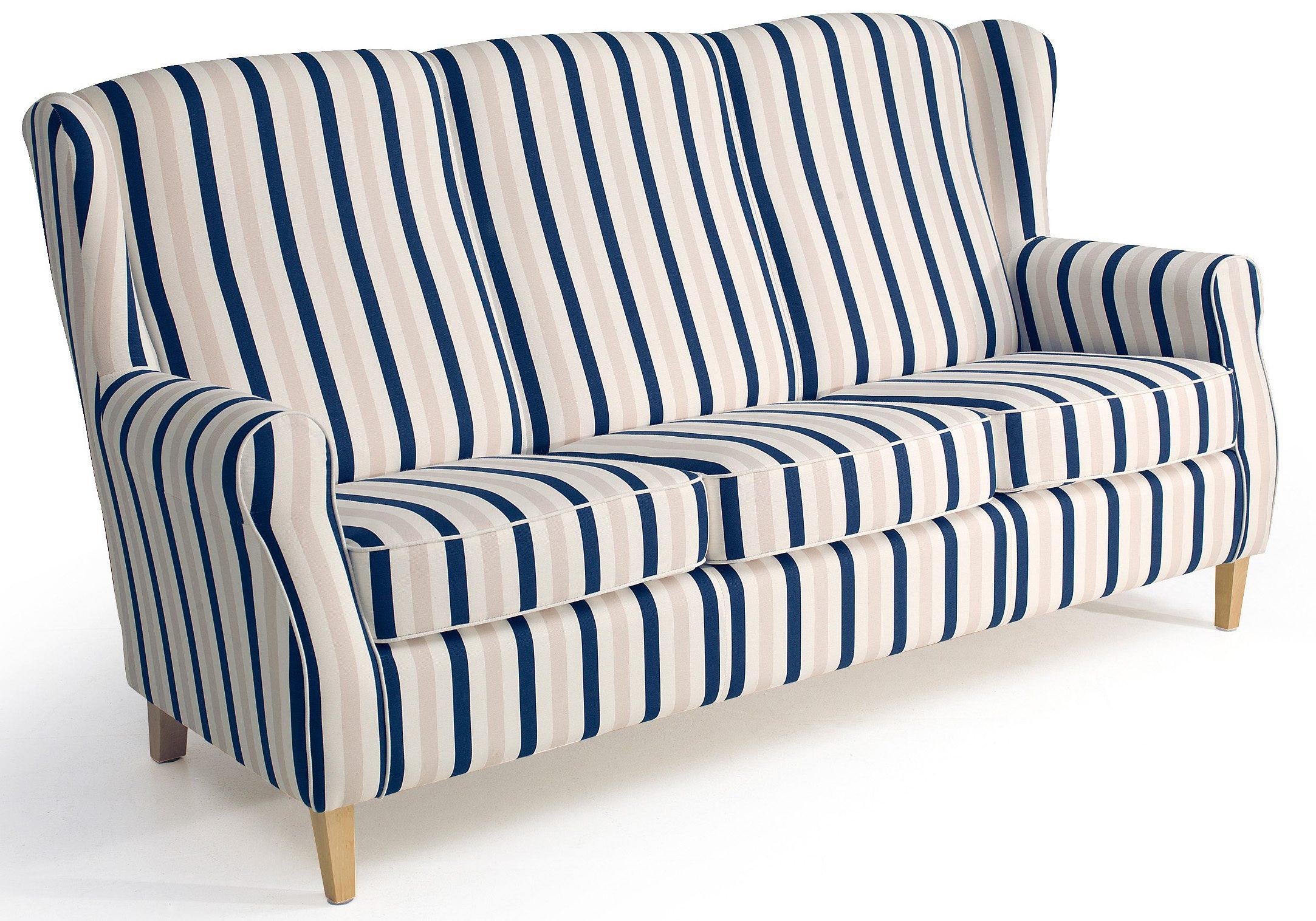 Max Winzer® Hochlehner 3-Sitzer Sofa »Luke« im Retrolook, Breite 196 cm
