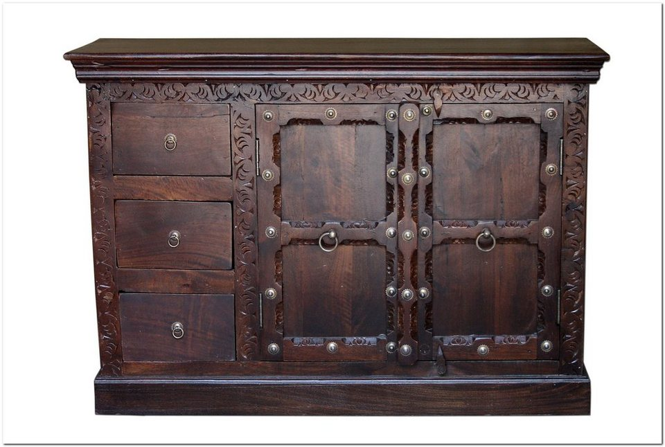 Sideboard, Home affaire, »India«, Breite 115 cm in Braun