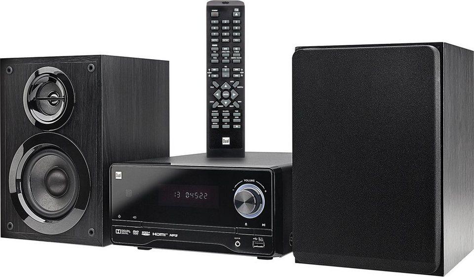 Dual DVD-MS 120 Microanlage, RDS, 1x USB in schwarz