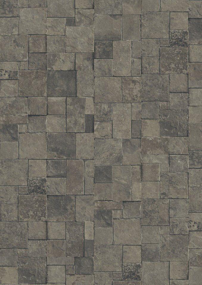 Laminat »Megafloor M2 Kingsize«, Mosaik Stein anthrazit Nachbildung in schwarz