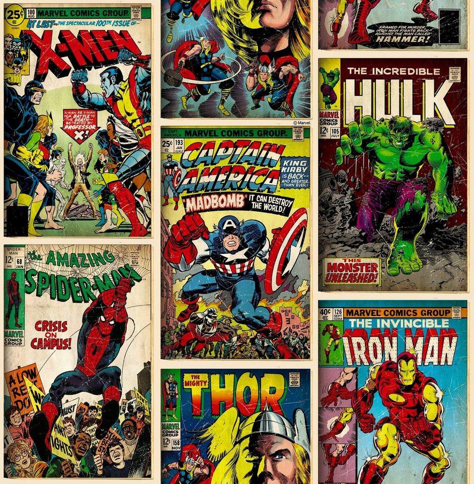 Papiertapete »Marvel Action Heroes« in bunt