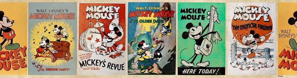 Bordüre »Mickey« in bunt