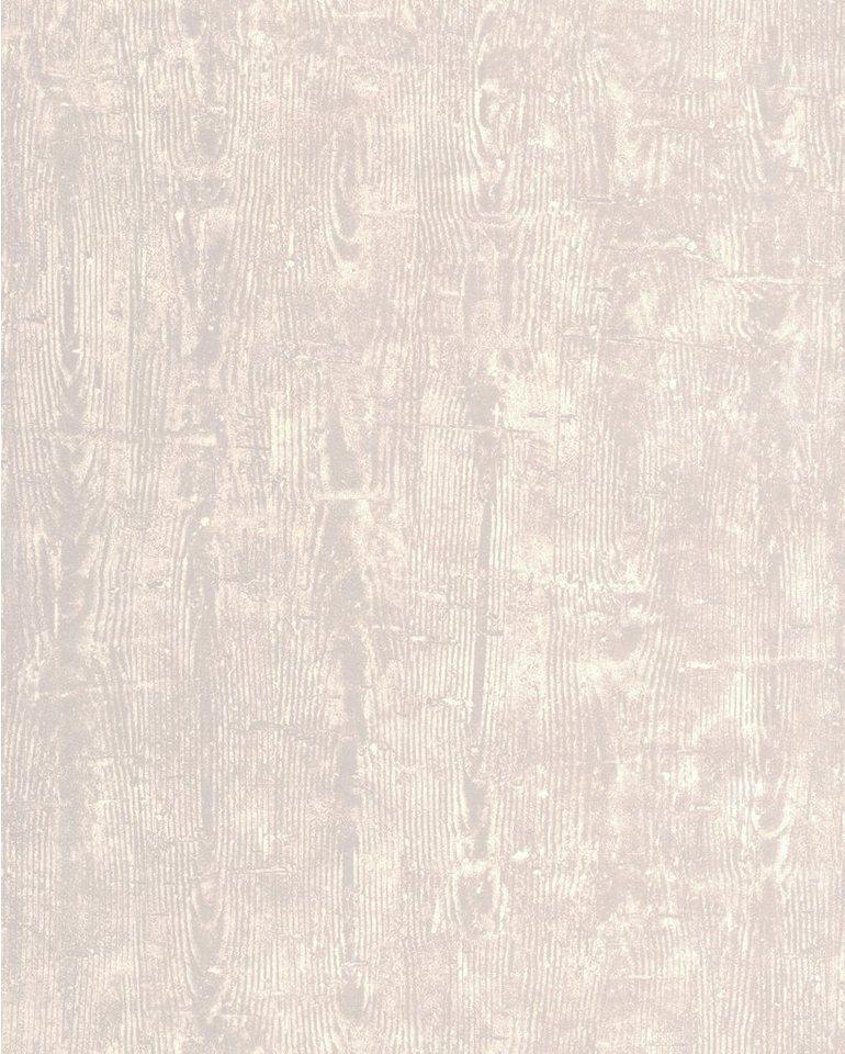 Vliestapete »Treibholz«, hellgrau in grau