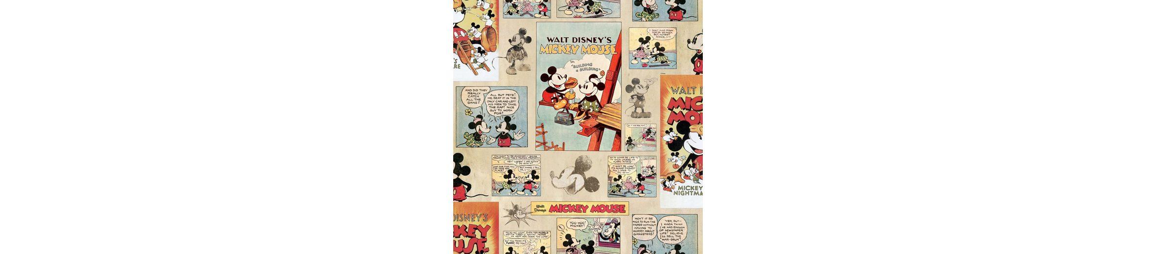 Papiertapete »Mickey Vintage«