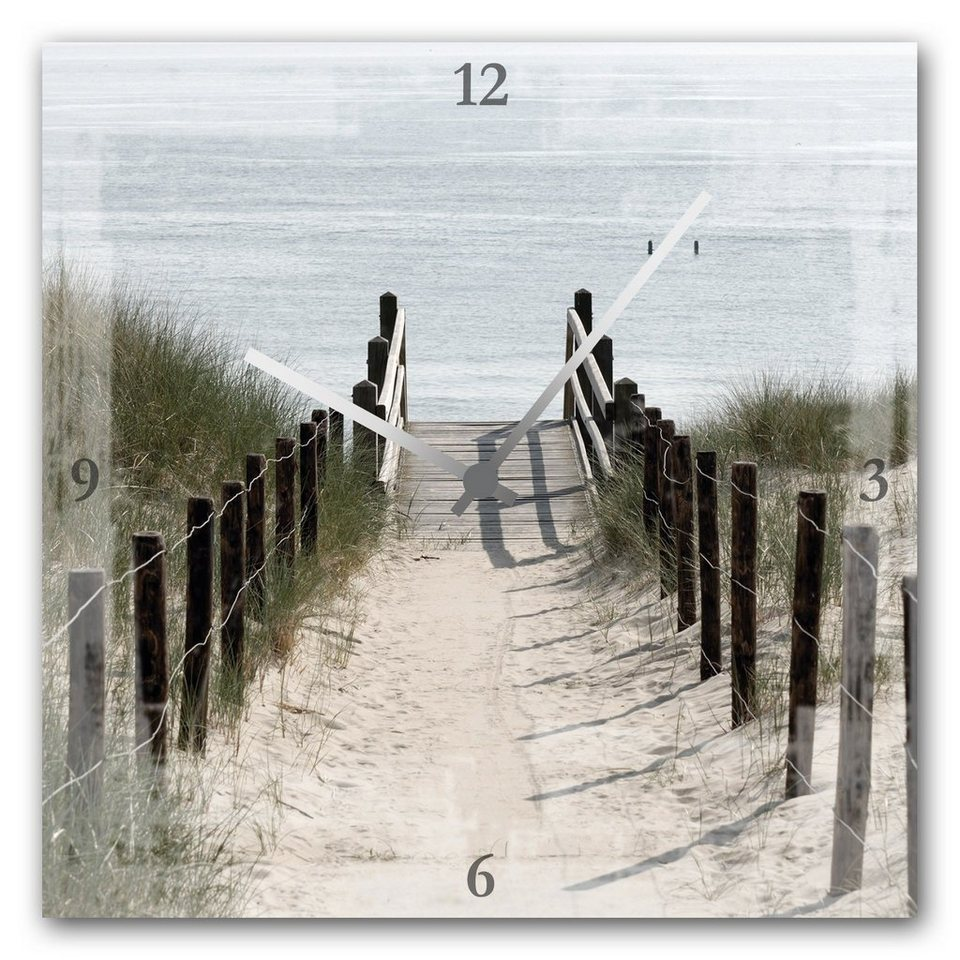 Acrylglas-Uhr »Strandweg« in natur