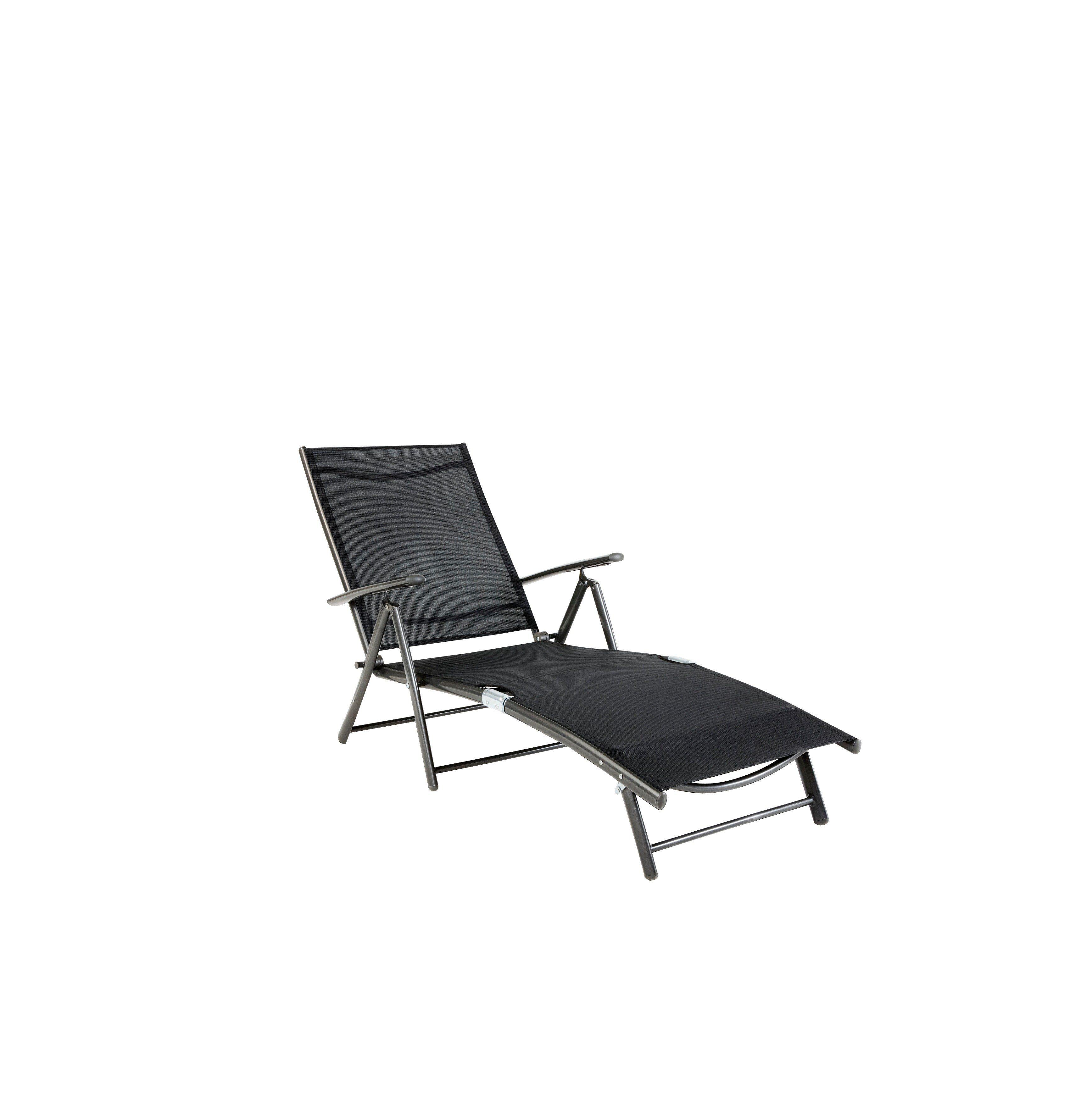 Gartenliege »Rügen«, Alu/Textil, schwarz