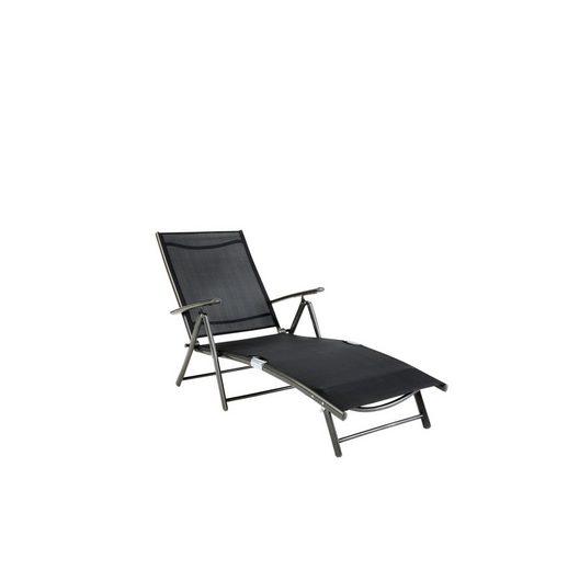 gartenliege r gen alu textil schwarz kaufen otto. Black Bedroom Furniture Sets. Home Design Ideas