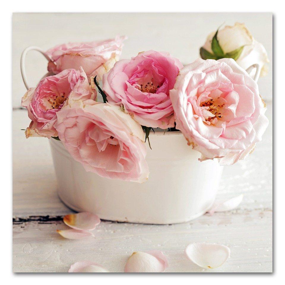 Acrylglasbild »Rosen«, 50x50cm in rosa