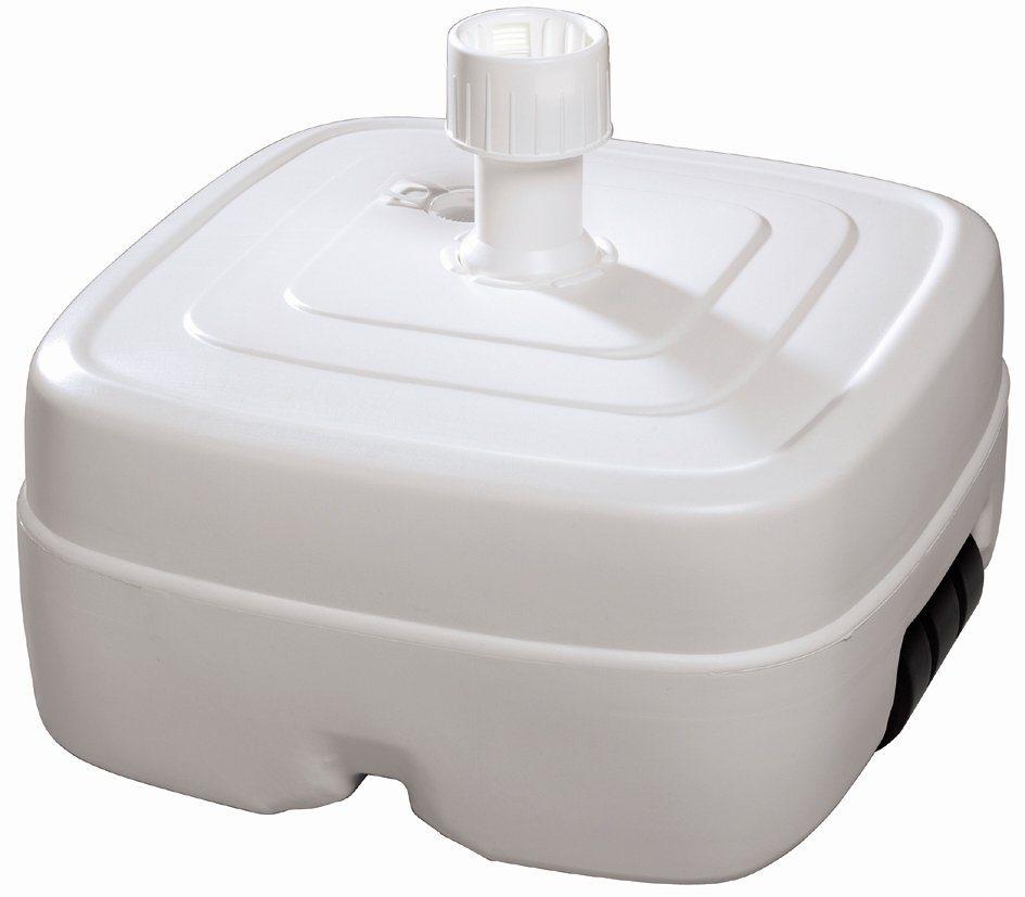 SCHNEIDER SCHIRME Kunststoffschirmständer , weiß in weiß