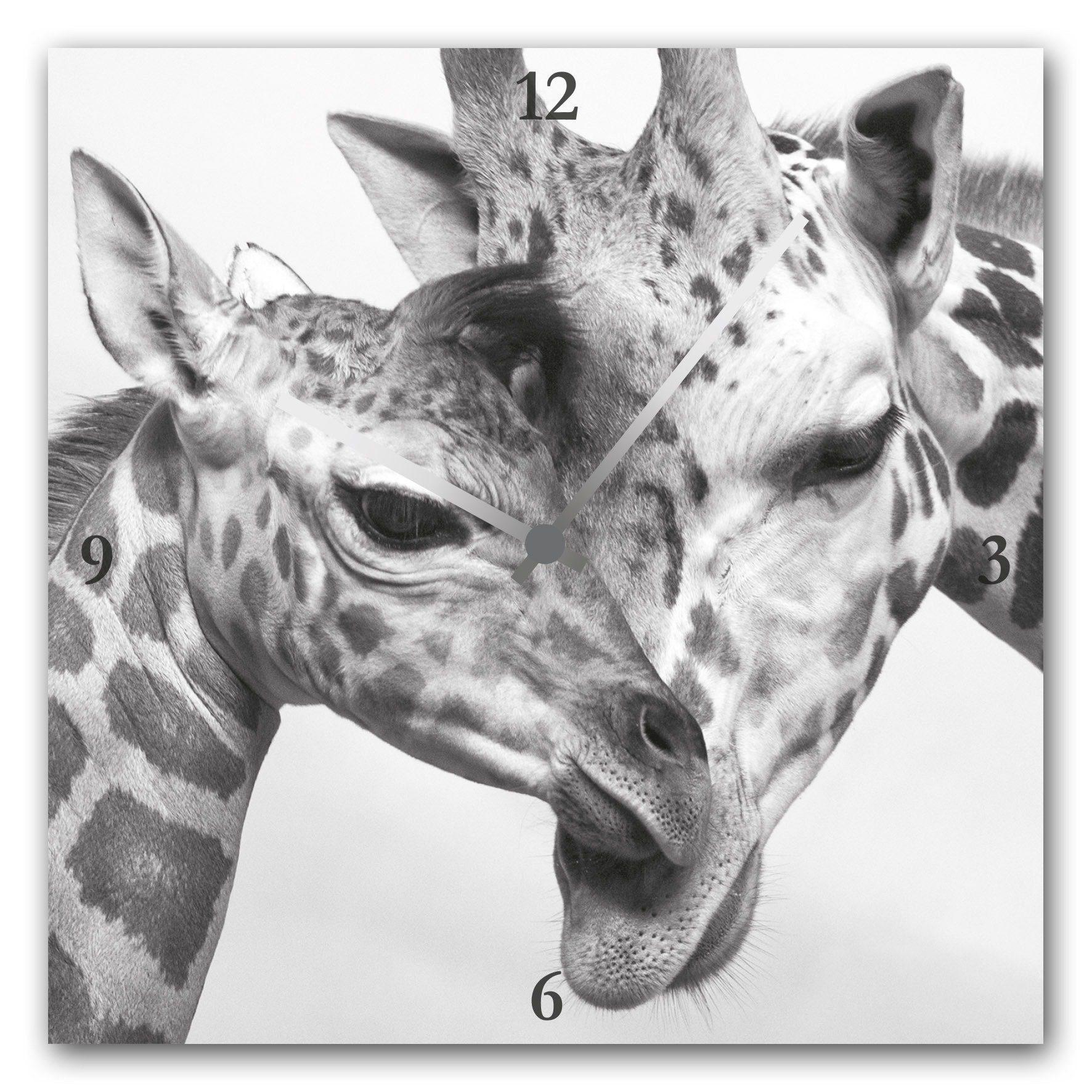 Acrylglas-Uhr »Giraffen«