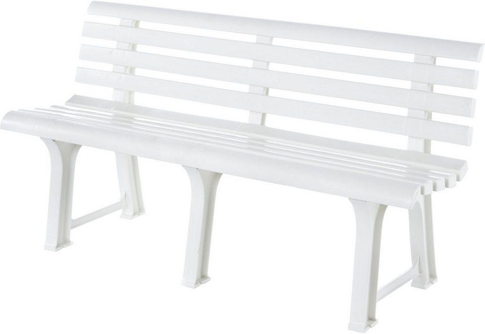 Gartenbank in weiß