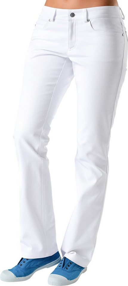 Damen-Pflegerhose mit curved fit Passform in weiß