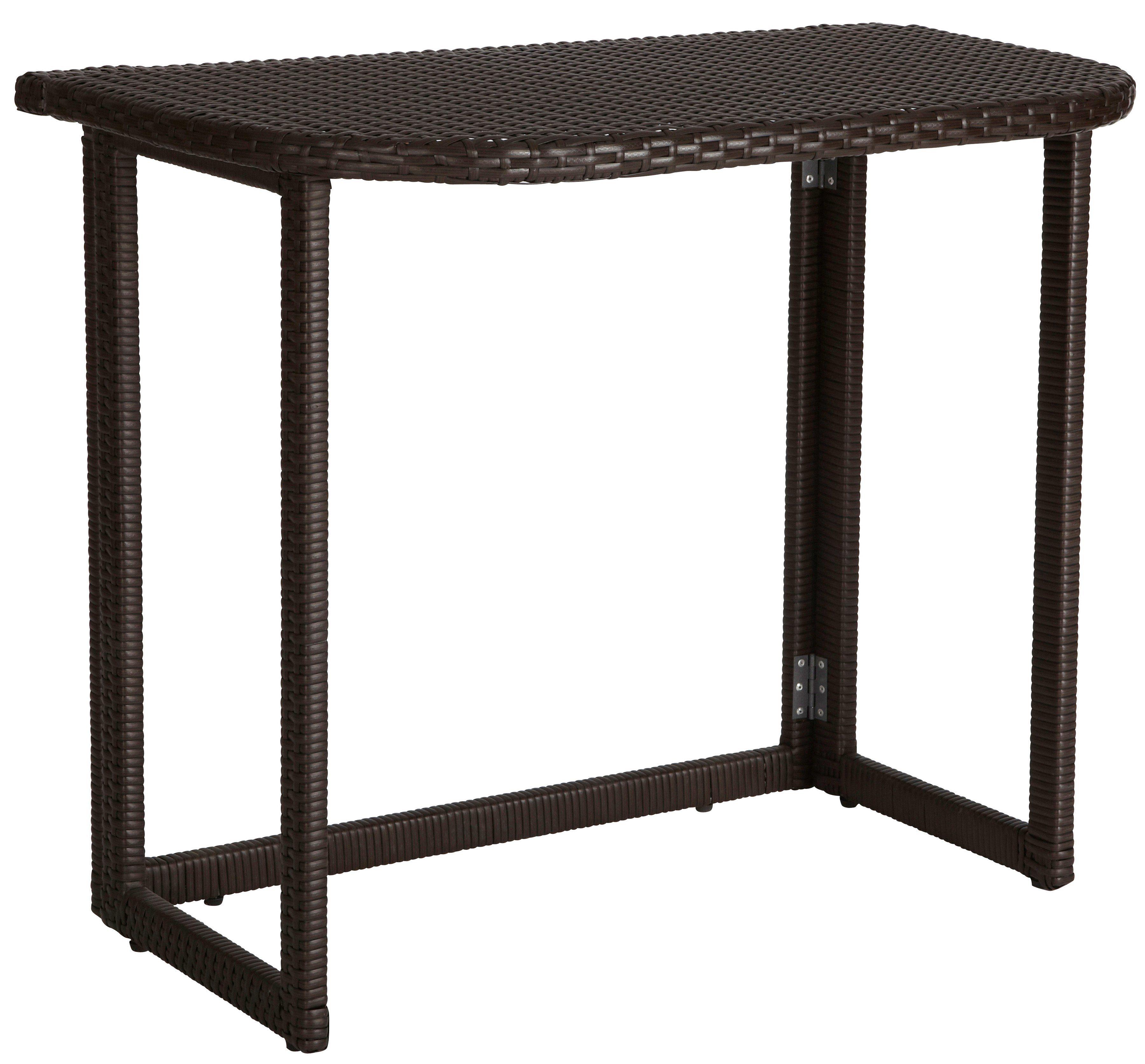 Gartentisch »Rattan«, klappbar, Polyrattan, 90x50 cm