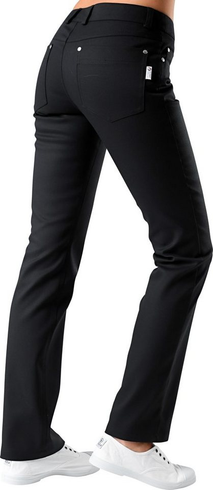 Damen-Pflegehose regular fit in schwarz