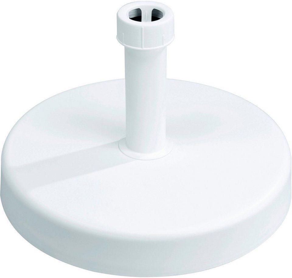 Betonschirmständer in weiß