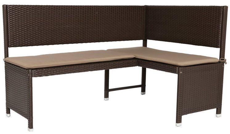eckbank rattan polyrattan inkl auflage braun otto. Black Bedroom Furniture Sets. Home Design Ideas