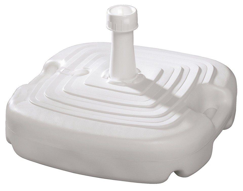 Kunststoffschirmständer in weiß