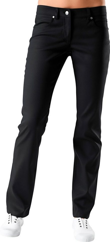 Damen-Pflegehose slight fit in schwarz