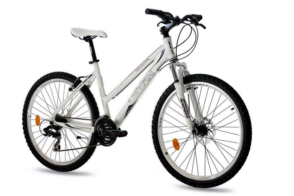 Mountainbike »Tovian«, 26 Zoll, 21 Gang, Scheibenbremse in weiß