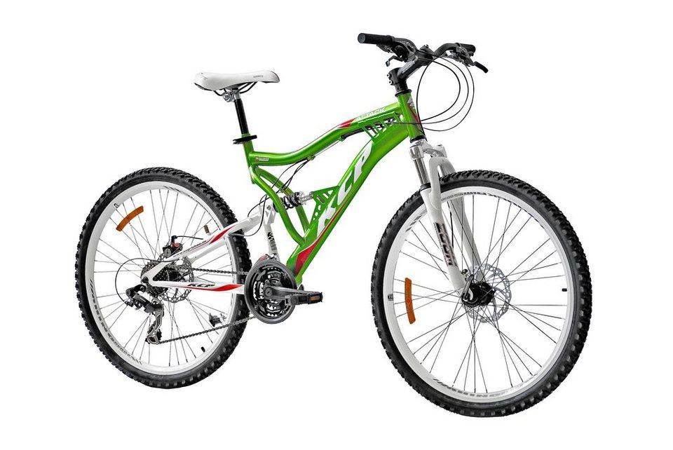 KCP Mountainbike »Attack«, 26 Zoll, 21 Gang, Scheibenbremsen in grün