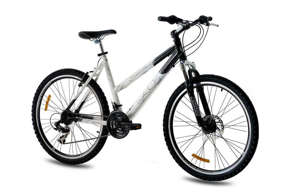 Mountainbike »Evolution«, 26 Zoll, 18 Gang, Scheibenbremse in weiß